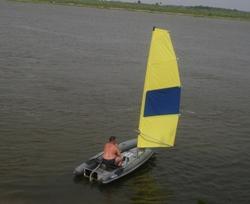 Складной РИБ WinBoat 460RF Sprint Sail на Волге в 2012 году