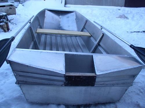 Разборная алюминиевая лодка. Транец.