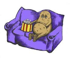 Ленивый картофель в микроволновке. И не ленивый, с грибами